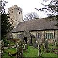 ST1396 : Church and churchyard, Gelligaer by Jaggery