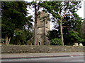 ST1396 : Church tower behind trees, Gelligaer by Jaggery