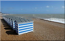 TQ8109 : Beach huts in Hastings by DS Pugh