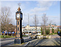 NZ2563 : Clock tower outside old town hall by Trevor Littlewood