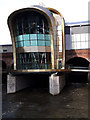 SE2933 : The river Aire under Leeds station, high flow by Stephen Craven