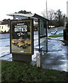 ST3089 : Subway advert on a Malpas Road bus shelter, Newport by Jaggery