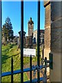 NS7991 : St Ninian's Old Parish Church belfry and churchyard, Stirling by Claire Pegrum