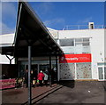 SO0506 : Triangular canopy over the entrance to Beacons Place Shopping Centre, Merthyr Tydfil by Jaggery