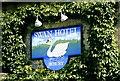 SP1106 : Swan Hotel Sign, Bibury, Gloucestershire 2004 by Ray Bird