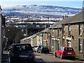 SO2408 : Snowy hillside above Blaenavon by Jaggery
