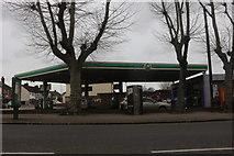 TQ5087 : BP petrol station on Rush Green Road, Romford by David Howard
