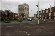 TQ4986 : Roundabout on Wood Lane,  Dagenham by David Howard