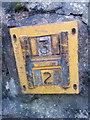 SH6268 : Hydrant marker on the High Street, Rachub by Meirion