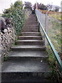 SH6266 : Stairs going up from Frydlas Road, Bethesda by Meirion