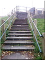 SH6266 : Stairs leading up to car park from John Street, Bethesda by Meirion