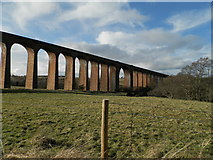 NH7644 : Railway viaduct over River Nairn at Clava by Douglas Nelson