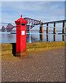 NT1378 : Victorian Postbox and Forth Bridge by David Dixon