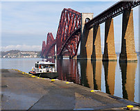 NT1378 : The Forth Bridge and Hawes Pier by David Dixon