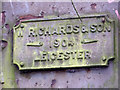 SP0987 : Builder's plate on Bridge No. 104b over the Grand Union Canal by Chris Allen