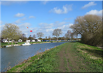 TL5064 : Clayhithe: flags flying at Cam Sailing Club by John Sutton