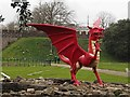 ST1876 : Welsh dragon in Cardiff Castle by Graham Hogg