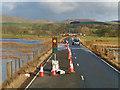 NT0538 : Temporary Signals on the A72 at Biggar Moss by David Dixon
