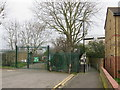 TQ3690 : Allotment gates and footpath, Walthamstow by Malc McDonald