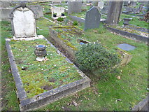 TQ2272 : The grave of Roy Plomley at Putney Vale Cemetery by Marathon