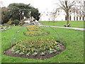 TQ1979 : Tulips in restored flower beds, Gunnersbury Park by David Hawgood