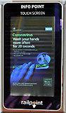 NT9953 : A Coronavirus information screen at Berwick Railway Station by Walter Baxter