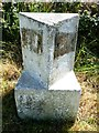 SW7245 : Old Milestone by the former A30, north of Scorrier by Rosy Hanns