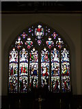 ST7693 : Stained glass window, St Mary, Wotton under Edge, Glos by Alf Beard