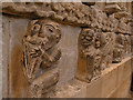 NY9364 : Hexham Abbey: stone carvings by Stephen Craven