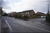 SU9877 : Slough Road at Castle Avenue, Datchet by Ian S