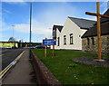 ST4788 : Wooden cross, Jubilee Way, Caldicot by Jaggery