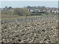 SE3323 : Recently ploughed field off Rook's Nest Road by Christine Johnstone