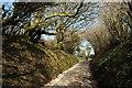 SX7063 : Approaching Reddacleave Kiln Cross by Derek Harper