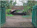 TQ2262 : Bridleway bridge under railway by Hugh Craddock