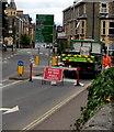 SO0350 : Ffordd Ar Gau/Road Closed sign, West Street, Builth Wells by Jaggery