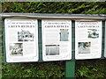 SU9391 : Information Boards at Bekonscot Model Village (1) by David Hillas