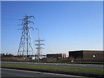 SE8912 : Pylons and sub station, Normanby Road by Jonathan Thacker