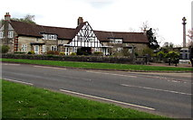 SO6302 : Almshouses and War Memorial, Church Road, Lydney by Jaggery