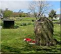 SS5889 : Welsh inscription on Murton War Memorial by Jaggery