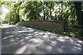 SK8633 : Parapet of bridge over dismantled railway on Belvoir Road by Phil Richards
