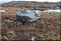 NM9301 : Boulder on moorland by Patrick Mackie