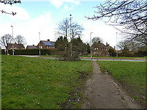 SE2534 : Path from Green Hill Close to Stanningley Road by Stephen Craven