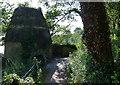 NT2992 : Doocot and path at Ravenscraig Park by Mat Fascione