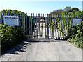 TR3565 : Entrance to recycling centre by John Baker