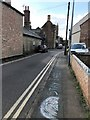 TL2696 : STAY SAFE - Child's chalk graphics on London Road, Whittlesey by Richard Humphrey