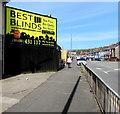 ST3089 : Yellow advert, Crindau, Newport by Jaggery