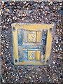 SH5872 : Hydrant marker on Glynne Road, Bangor by Meirion