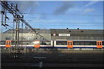 TQ2282 : Bombardier Engine Shed by N Chadwick
