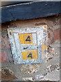 SH5772 : Hydrant marker on Sackville Road, Bangor by Meirion