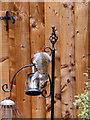ST3086 : Grey Squirrel on a bird feeder by Robin Drayton